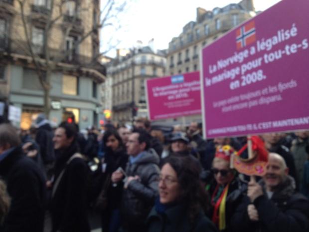Manifestação em Paris - Foto Letícia Zenevich